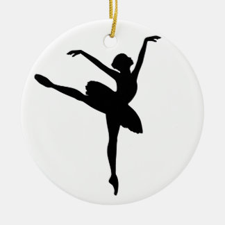 Ballet Dancer Double-Sided Ceramic Round Christmas Ornament