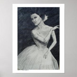 Ballet Dancer Drawing Poster