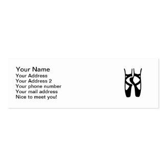 Ballet dancer feet business cards