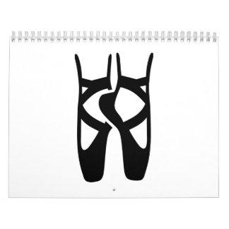 Ballet dancer feet wall calendars