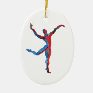 Ballet Dancer Gesturing Ceramic Ornament