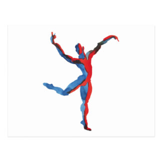 Ballet Dancer Gesturing Postcard
