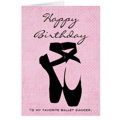 Happy Birthday Ballet Cake