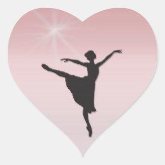 Ballet dancer heart sticker
