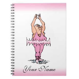 Ballet Dancer in Pink Tutu Personalized Note Pad Notebook