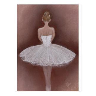 Ballet Dancer in tutu Postcard