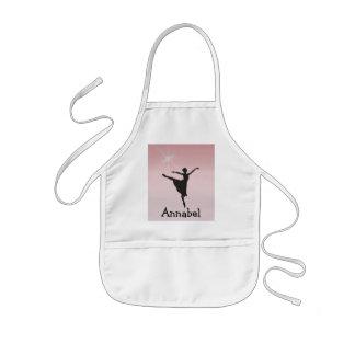 Ballet dancer kids' apron
