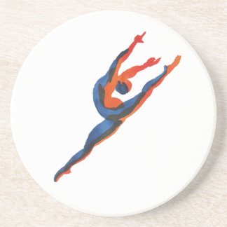 Ballet Dancer Leaping Coasters
