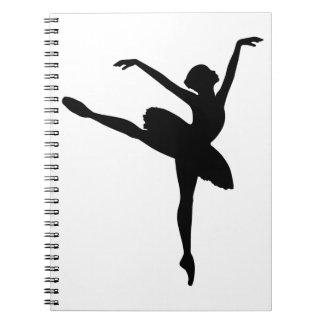 Ballet Dancer Spiral Note Book