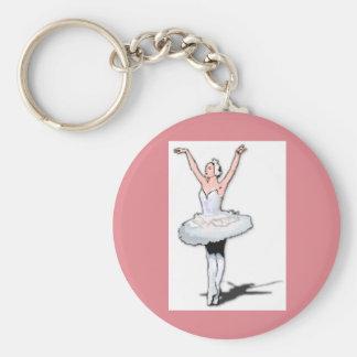 Ballet Dancer Paris Pink Dance Ballerina Keychain