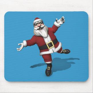 Ballet Dancer Santa Claus Mouse Pad