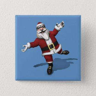 Ballet Dancer Santa Claus Pinback Button