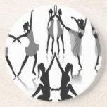Ballet dancer set design beverage coaster
