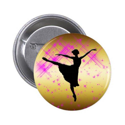 BALLET DANCER SILHOUETTE PINS