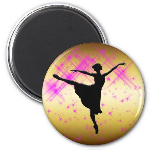 BALLET DANCER SILHOUETTE FRIDGE MAGNETS