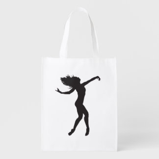 Ballet Dancer Silhouette Grocery bag Reusable Grocery Bag