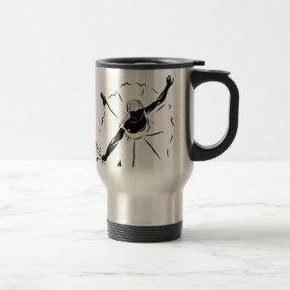 Ballet Dancer Silhouette Travel Mug