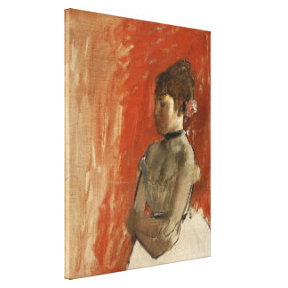 Ballet Dancer with Arms Crossed by Edgar Degas Canvas Print