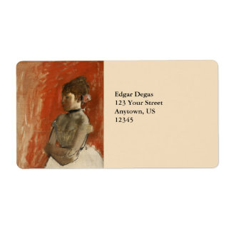 Ballet Dancer with Arms Crossed by Edgar Degas Label