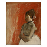 Ballet Dancer with Arms Crossed by Edgar Degas Poster