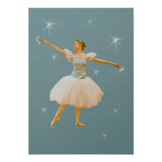 Ballet Dancer with Castanets Print or Poster