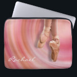 """Ballet Dancer with Custom Name Laptop Sleeve<br><div class=""""desc"""">A ballet dancer on her toes in a pink feminine design featuring an abstract swirl background. Insert your name in place of the sample name shown in the design template. You can also remove the name if you prefer the case with out it. Simply select the &quot;customize it&quot; button and...</div>"""