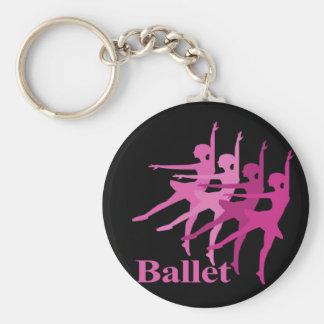 Ballet Dancers Basic Round Button Keychain