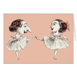 Ballet dancers greeting cards