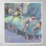 Ballet Dancers in the Wings, 1890-95, Degas Print