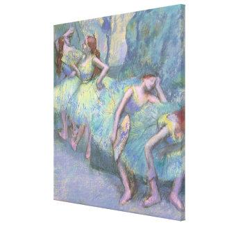 Ballet Dancers in the Wings by Edgar Degas Canvas Print