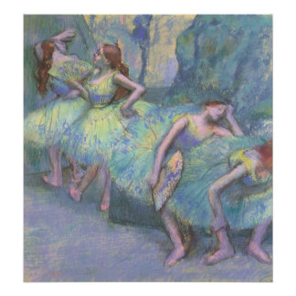 Ballet Dancers in the Wings by Edgar Degas Poster