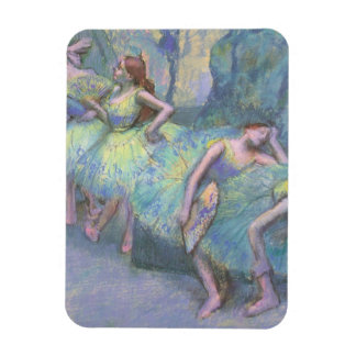 Ballet Dancers in the Wings by Edgar Degas Rectangular Magnet