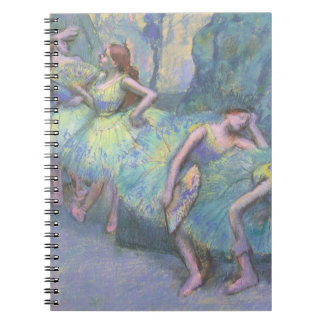 Ballet Dancers in the Wings by Edgar Degas Spiral Note Book