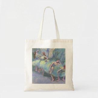 Ballet Dancers in the Wings by Edgar Degas Tote Bag
