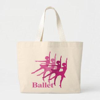 Ballet Dancers Large Tote Bag