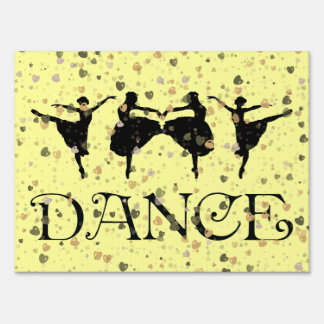 BALLET DANCERS LAWN SIGN