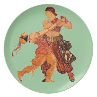 Ballet Dancers Melamine Plate
