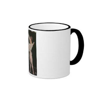 Ballet Dancers Ringer Coffee Mug