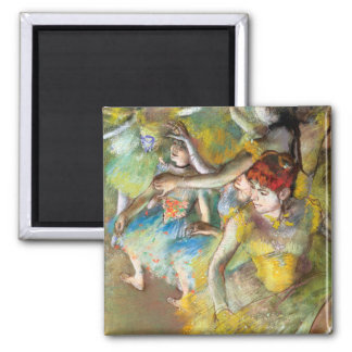 Ballet Dancers on Stage by Degas 2 Inch Square Magnet