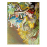 Ballet Dancers on Stage by Degas Post Card