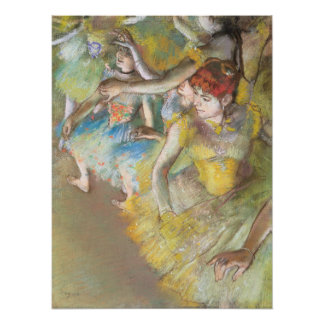 Ballet Dancers on the Stage by Edgar Degas Poster
