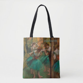 Ballet Dancers, Pink & Green | Edgar Degas Tote Bag