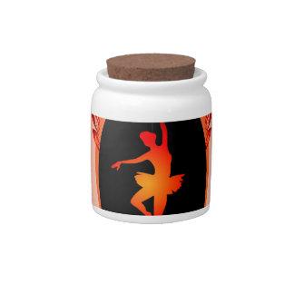 Ballet, dancing ballerina candy jars