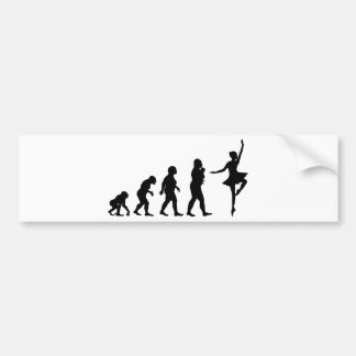 Ballet Dancing Bumper Sticker