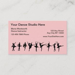 Dance studio school teacher lessons business cards templates zazzle ballet dancing business cards colourmoves
