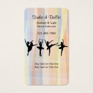 Ballet Dancing Business Cards at Zazzle