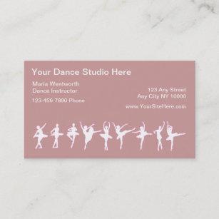 Dance studio business cards templates zazzle ballet dancing business cards colourmoves