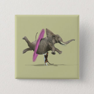 Ballet Dancing Elephant Button