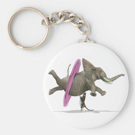 Ballet Dancing Elephant Key Chains