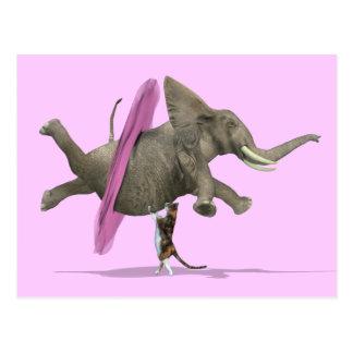 Ballet Dancing Elephant Postcard